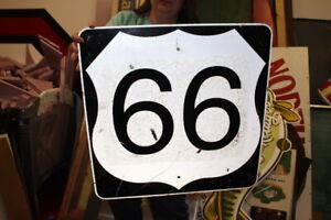 """Original Vintage Route 66 Gas Oil 24"""" Metal Highway Road Sign"""