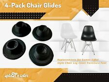 4-Pack Chair Glides Compatible with Eames Eiffel Style Chair Leg Feet Cover
