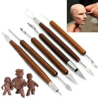 6pcs DIY Schnitzwerkzeug Schnitzmesser Keramik Skulptur Carving Werkzeug Neu