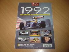 Auto hebdo Hors série N°18 1992 la saison de sport automobile