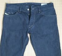 Mens Diesel Ruky Boot Cut Blue Denim Jeans Button Fly Size 35W 32L