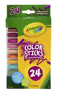 Crayola Color Sticks Woodless Pentagon Colored Pencils, Assorted Colors, Set of