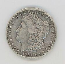 1884-S  MORGAN SILVER DOLLAR----RAW--