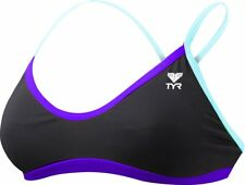 NWT TYR WOMEN'S DURAFAST LITE SOLID BRITE CROSSCUT-FIT WORKOUT BIKINI BLACK/PURP