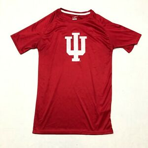 Champion INDIANA HOOSIERS Athletic T Shirt Adult Size Small Red