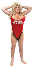 Lifeguard Anita Waxin Hairy Mary Red Bikini Mens Brazilian Swimsuit Fancy Dress