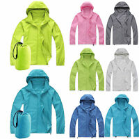 Unisex Jacket Waterproof Camping Hiking Rain Coat Fishing Sport Hoodies Outwear