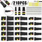 15 Sets Waterproof Car Auto Electrical Wire Connector Plug 2-4 Pin Way Plug Kit
