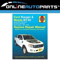 Haynes Car Repair Manual Book Ford Ranger PX Mazda BT-50 UP UR Diesel P4AT P5AT