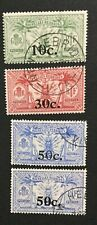 MOMEN: NEW HEBRIDES SG #F38-41 1924 USED LOT #194725-3175