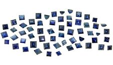 mixed square blue sapphires 7.24ct natural loose gemstones