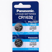 2 pieces CR1632 Panasonic Cell Button & Coin Type 3V Remote Watch Battery
