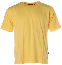 X2800 Signum Herren Basic Kurzarm Shirt T-shirt Rundhals gelb L