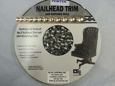 30 Feet Upholstery PEWTER Tackstrips Roll Nail Strip Nailhead Trim