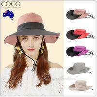 Sun Protective Hat Hiking Travel Beach Visor Ladies Summer Big Wide Brim Caps