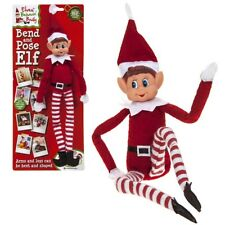 "12"" Bend And Pose Wire Bendable Selfie Sitting Elf Decoration Elves Behaving Toy"