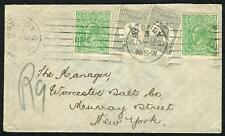 Kangaroos - 2nd Wmk - June 1915 use of 2d (2) combination KGV ½d (2) Cover