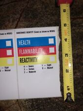 """LOT of 25  MSDS RIGHT TO KNOW LABEL STICKER   5""""x3""""   Paper with sticky back"""