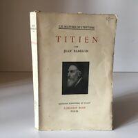Jean Babelon Tiziano Las Masters Historia Y de Arte Plön 1950