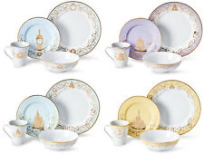 Disney Princess Themed 16 Piece Ceramic Dinnerware Set Collection 1 | Plates |