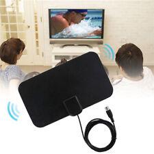 Digital Indoor Amplified TV Antenna HDTV 50 Mile Range Flat Design TVFox VHF TSU