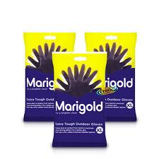 3x Marigold Extra Tough Outdoor Gardening Cleaning Gloves XL Heavy Duty Rubber