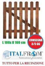 Cancelletto in Legno di Pino Impregnato L100xH100 cm per Steccati con Doghe