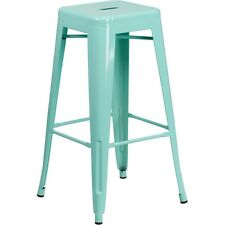 Flash Furniture 30in High Backless Mint Green Indoor-Outdoor Barstool NEW