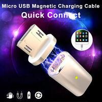 Micro USB Magnético Cable de Carga Adaptador Datos Cargador para Samsung