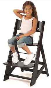 NEW KEEKAROO HEIGHT RIGHT ADJUSTABLE CHILD'S WOOD CHAIR - Espresso Color