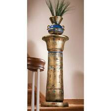 "Golden Pedestal Of The Egyptian Kings Design Toscano 32"" Sculptural Column"