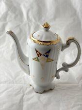 Eastern Star Masonic Vintage Ornate Teapot