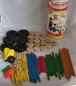Tinker Toy Classic 2001 Special Edition Super Crane Construction Set 93 Pieces