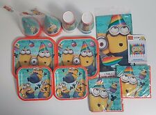 Despicable Me 2 Minions Party Supply Kit Set Lot for 16 People NEW Hats Plates +
