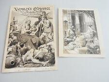 2 Original-Zeichnungen um 1890 (u.a. Richard Ernst Kepler) Vorlagen ODYSSEE-Ausg