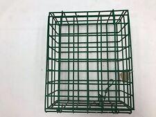 "Wire Basket Extra Large Suet Basket Feeder 7"" x 8 1/2"" x 3 1/4"" with Chain"