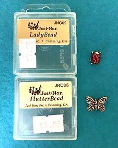 2 Just Nan Embellishments FlutterBead JNC06 & LadyBead JNC09