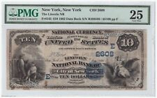 $10 1882 Date Back FR#545 New York CH#2608 PMG 25