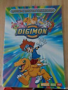 DIGIMON STICKER ALBUM Magic Box Int 2000 147 Stickers In Album See Description