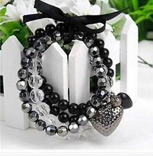 Vampire Diaries Gothic Bracelet Gorgeous Handmade Layers of Beads Bracelet