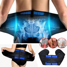 Back Support Brace Lumbar Lower Waist Belt Pain Relief Double Pull Men Women Gym