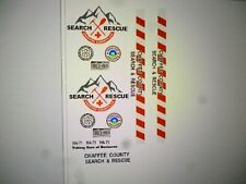 Chaffee County Colorado Search and Rescue Vehicle Decals 1:24