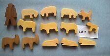 Holztiere Schafe etc 14 Teile neu. Set 1