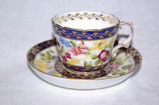 Antique Bone China Handpainted Demi Tasse Cup and Saucer