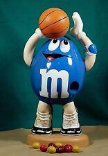 "Vintage Plastic Mars M&M Candy Dispenser Blue M&M with Basketball 13"""