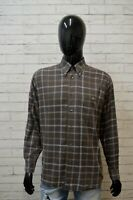 Camicia Uomo LACOSTE Taglia 42 XL Camicetta Manica Lunga Maglia Shirt Quadri