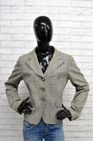 Giacca Donna MARELLA Taglia Size 48 L Jacket Woman Cappotto Vintage Grigio