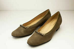 Trotters 8.5 Narrow Brown Green Flats Women's Shoes