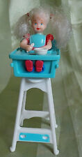Barbie 1998 mattel Essende-eating kelly McDonald's Toy muñeca en silla alta