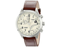 Timex Men's Intelligent Quartz Fly-Back Chronograph Leather Watch - T2N932